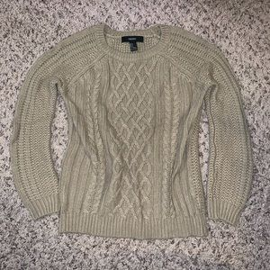 Sz S FE21 Cable Knit Sweater